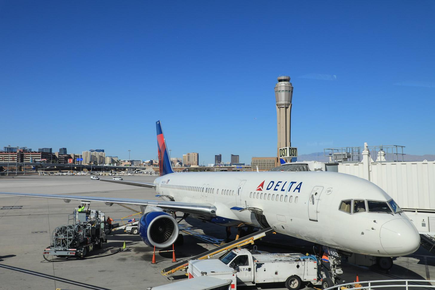 Vliegen naar Las Vegas
